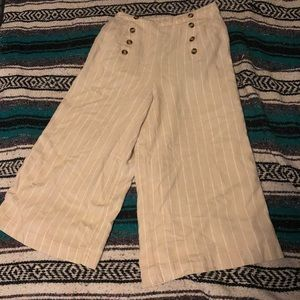 American Eagle Linen Culotte Pants (wide leg)